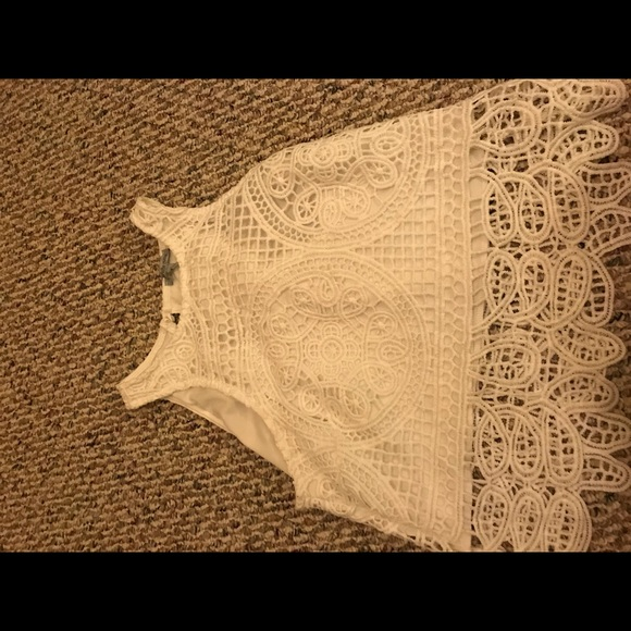 37ef0027f355cd Charlotte Russe Tops | White Crochet Crop Top | Poshmark